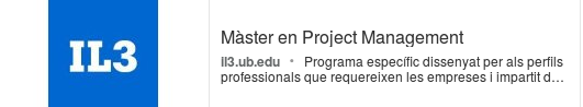 Máster on-line en Project Management</strong> de IL3 (Universidad de Barcelona)